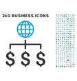 Global Payments Icon with Flat Set vector image vector image