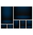 Gradient background set vector image vector image