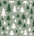 green and white christmas trees seamless pattern vector image vector image