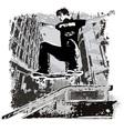 grunge street skater vector image vector image