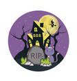 halloween cute cat cartoon vector image vector image