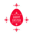 Happy easter - festive card with floral elements