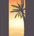 hello summer background vertical banner vector image vector image