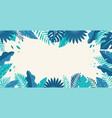 hello summer concept design summer panorama vector image