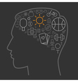 icons leisure human brain vector image vector image