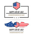 independence day labels on a white background vector image vector image