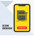 internet page web webpage wireframe glyph icon in vector image vector image