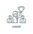 leader line icon linear concept outline vector image vector image