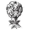 leaf finial souvenir spoons vintage engraving vector image vector image