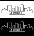 lexington city skyline linear style editable vector image vector image