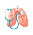 lungs diagnostic design in flat style vector image