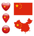 map of china with flag vector image vector image