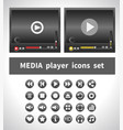 media players on white background vector image