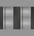metal texture with rivetted plates vector image vector image