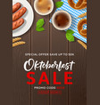 oktoberfest sale advertisement flyer vector image vector image