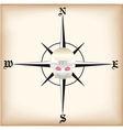pirate compass vector image