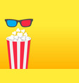 popcorn round box movie cinema icon in flat vector image