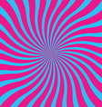 popular blue and pink twist rotate ray background vector image vector image