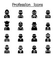 profession career icon set vector image vector image