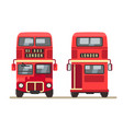 red traditional london bus vector image