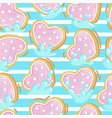 seamless pattern of cookies in milk vector image vector image