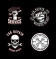 set car repair emblems design element for logo vector image vector image