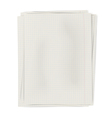 Stack of squared sheets of paper isolated on white vector image vector image