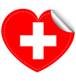 sticker design for flag of switzerland vector image vector image