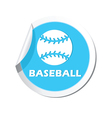 Sticker with baseball icon vector image vector image