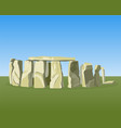 stonehenge famous prehistoric monument consists of vector image