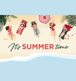 summer time banner vector image vector image