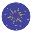 sun icon in thin line style vector image vector image