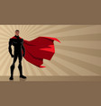 superhero black ray light vector image vector image