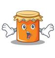 surprised jam mascot cartoon style vector image vector image