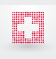 switzerland flag made up of dots vector image vector image