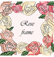 Yellow Rose flower frame vector image vector image