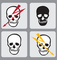 set of icons with a picture of a human skul vector image