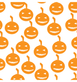 Halloween pumpkins seamless pattern background vector image