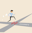 businessman walking on the street of success vector image