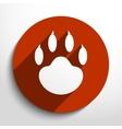 paw web icon vector image