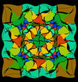 a pattern of colored smooth triangles vector image