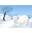 A snowbear walking vector image vector image