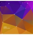 Abstract background with colored triangles and vector image