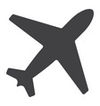 airplane glyph icon web and mobile flight mode vector image vector image