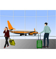airport scene for designers vector image