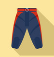 american football shorts icon flat style vector image vector image