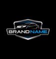 automotive logo template vector image vector image