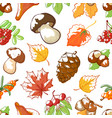 autumn hand draw background vector image vector image