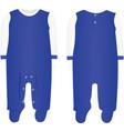 baby boy bodysuit vector image vector image
