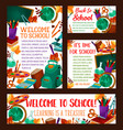 back to school education banner poster vector image vector image